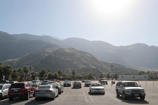 A parking lot exists on the site where the Agua Caliente Band of Cahuilla Indians plans to build a new sports arena complex in Palm Springs.