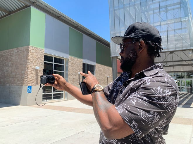 Sydney Wilburn, known on YouTube as Big Super, poses for a selfie at American Sports Centers in Avondale on June 26, 2019.