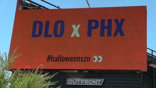 A D'Angelo Russell billboard popped up in Phoenix on Thursday at the intersection of 44th Street and Indian School Road.