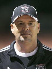 Ironwood head coach, Tim Beck at Ironwood High School in Glendale, AZ on January 25, 2016.