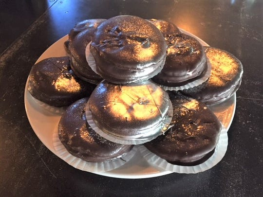 Flagstaff's Tourist Home All Day Cafe' is offering these moon pie deserts as part of the celebration of Flagstaff's role in the Apollo moon missions.