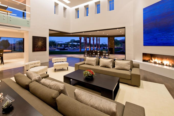 David R. Word paid cash for this 12,263-square-foot, contemporary-style mansion in Paradise Valley's Shoen Estates.