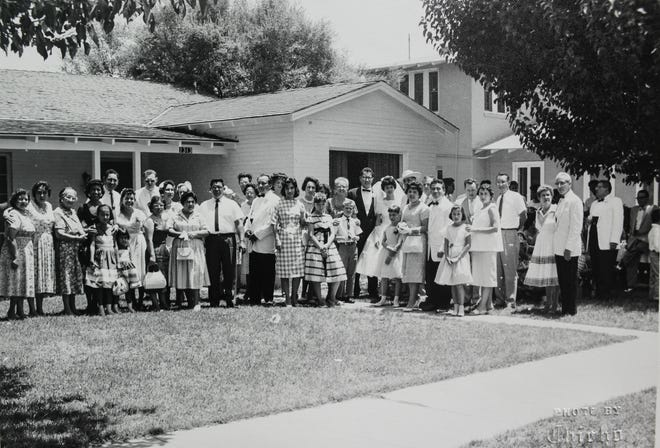 Family gathered at Adam and Phyllis Diaz's home in south-central Phoenix for a wedding on June 4, 1960. Lisa Urias's grandparents lived in the house for decades.