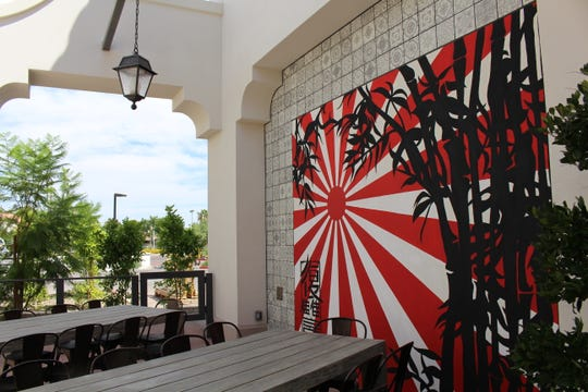 A mural on the patio of Obon Sushi + Bar + Ramen's new location in Scottsdale. The new spot features work by local artists.