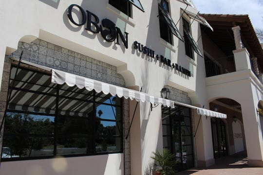 The front of Obon Sushi + Bar + Ramen's newest location at The Grove in Scottsdale. This is Obon's second Scottsdale location.