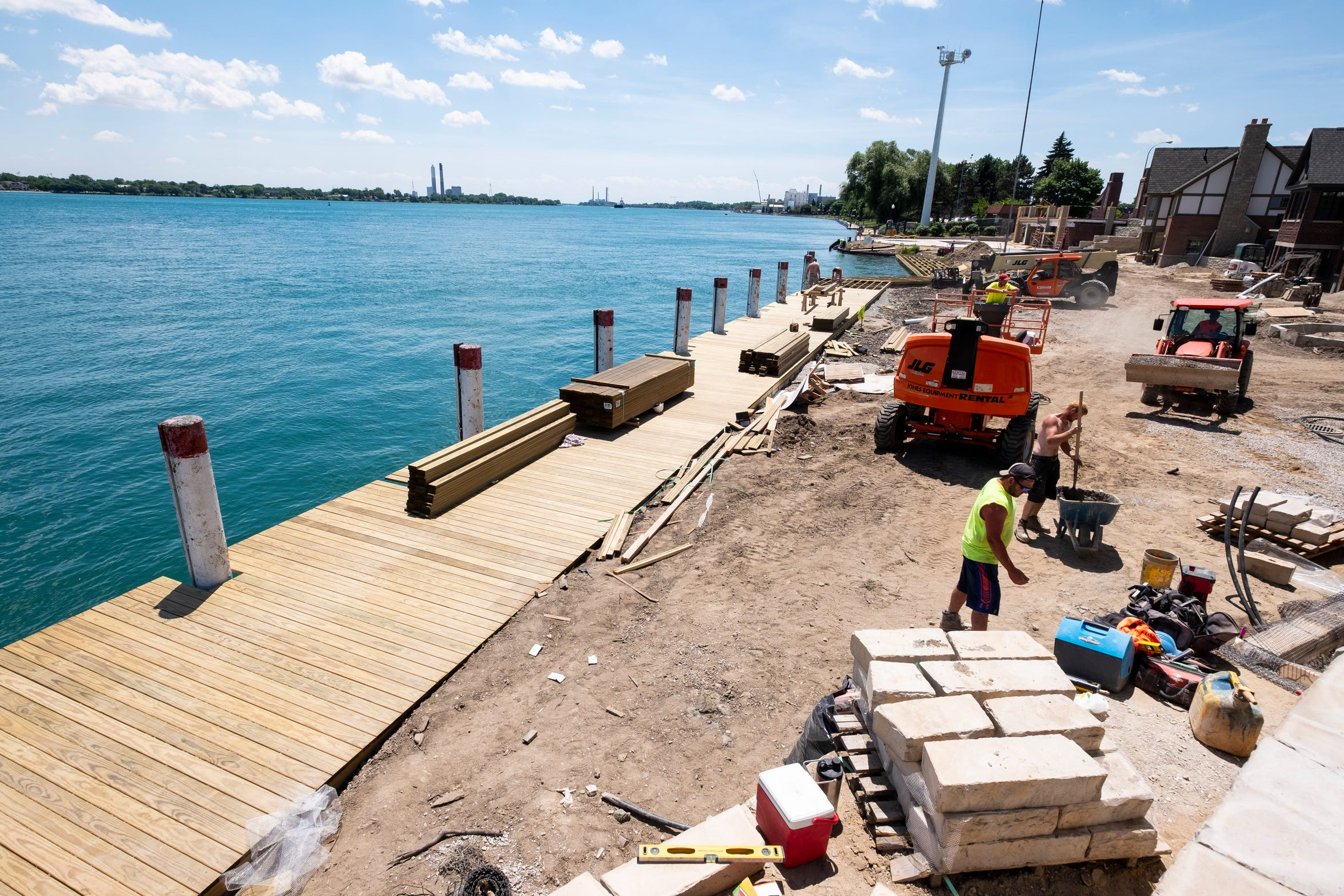 Even though the boardwalk behind the St. Clair Inn will be private, it is being made to match the rest of the boardwalk along the St. Clair River.