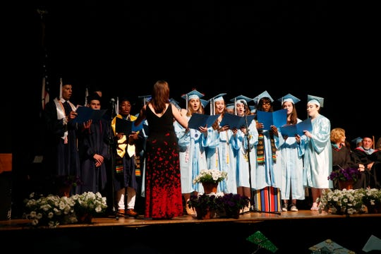 Scenes from the John Jay High School graduation at the Majed J. Nesheiwat Convention Center on June 26, 2019.