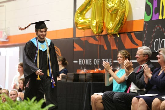 Salutatorian Sean Walsh gives a heartfelt speech about his experiences at Pawling High School.