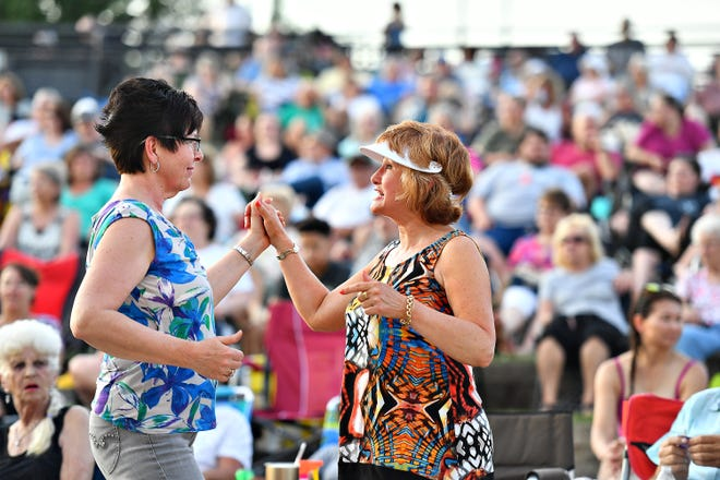The Impact Band performs in the amphitheater as part of the Sounds of Summer Concert Series at Springettsbury Park in Springettsbury Township, Wednesday, June 26, 2019. Performances run biweekly on Sundays and Wednesdays thru August 4. Dawn J. Sagert photo
