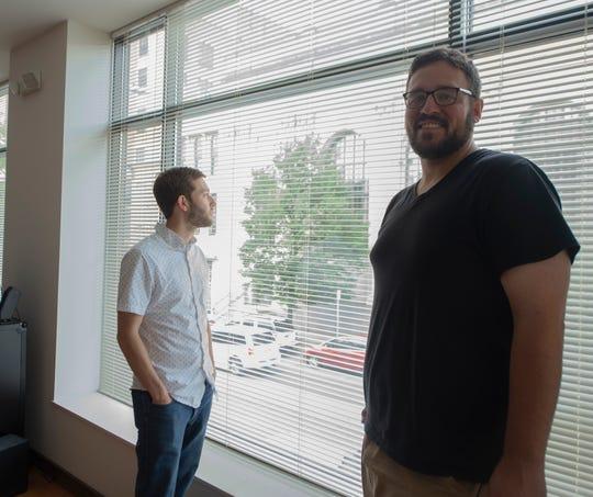 "Everything's Fire co-founders, Matt Nease (left) and Doug Henderson (right) inside their downtown York studio. The duo's new film, ""The Special"" will hold a special screening on Friday, June 28 at the Capitol Theatre in downtown York."