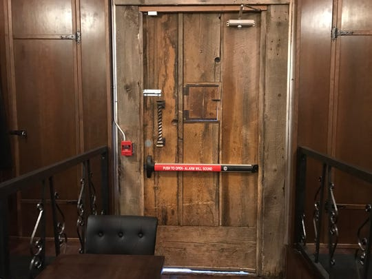 At the new Shim's speakeasy in Reno, what was once the front door is now the emergency exit. The speakeasy features a faux storefront.