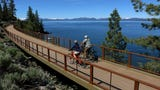 Amy Berry of the Tahoe Fund takes the Reno Gazette Journal on a bike ride along the new Tahoe East Shore Trail.