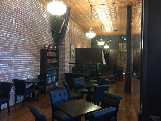 The new Shim's speakeasy in Reno features a ceiling of restored pressed tin, original brick walls and floors of Douglas Fir.