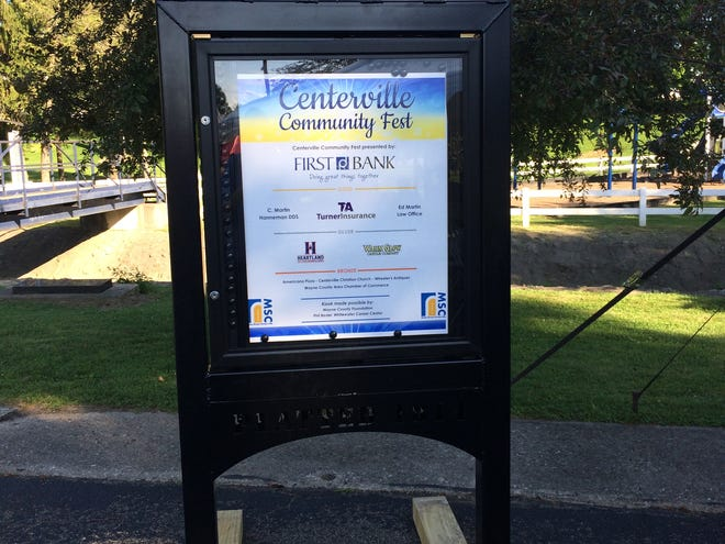 A kiosk is one project of the Centerville Main Street board.
