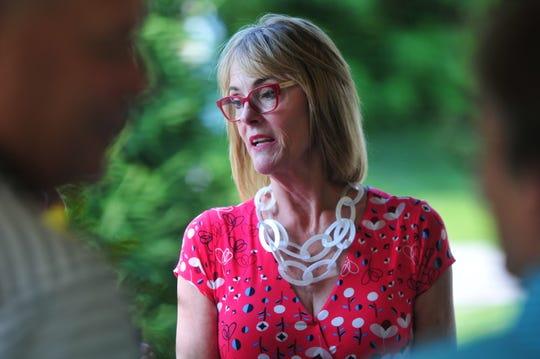 Lt. Gov. Suzanne Crouch attended a ceremony Wednesday to welcome Centerville into Indiana's Main Street Program.