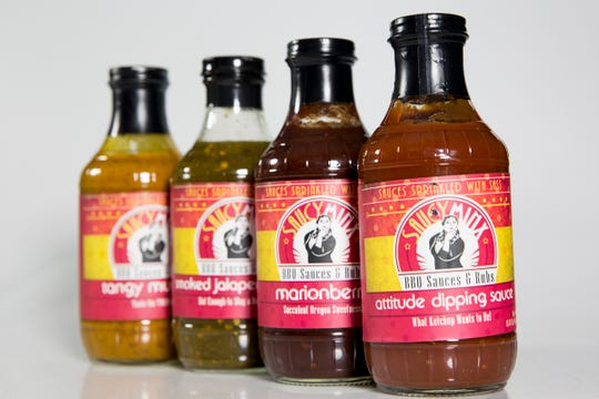 Saucy Minx BBQ Sauces are pictured in the Statesman Journal Studio on June 26, 2019.