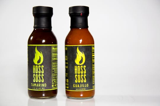 Hoss Soss sauces are pictured in the Statesman Journal Studio on June 26, 2019. The flavors shown are tamarind and guajillo.
