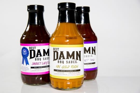 Sauces from Best Damn BBQ sauce, a Salem based company, are pictured in the Statesman Journal Studio on June 26, 2019.