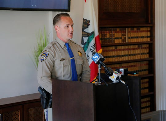 At a June 27, 2019 press conference, Ross Lee, public information officer for California Highway Patrol's San Jose division, announced Kevin Anthony Alaniz's was suspected of murder in a fatal Interstate 680 shooting in Santa Clara County.