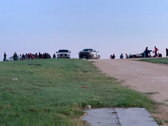 Border Patrol agents apprehended two large groups of people, one on June 22 and another on June 24, 2019. The groups totaled 310 people.