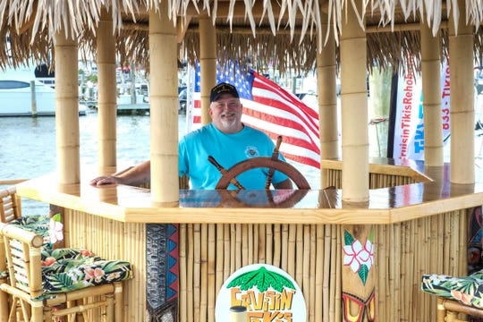 Larry Sinkus and his wife Patty co-own a Cruisin' Tikis franchise that just opened on Rehoboth Bay.
