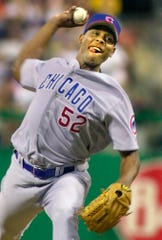 Pat Mahomes with the Chicago Cubs in 2002.