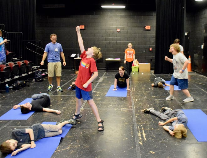 Students between grades five and eight spent a week in June 2019 learning stage combat from instructor Matthew Grandpre through Blue Ridge Community College's Learning Can be Fun Summer Program.