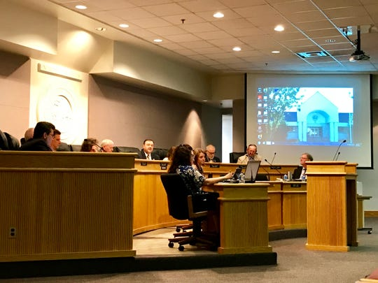 The Augusta County Board of Supervisors discuss county business on Wednesday at the Augusta County Government Center.