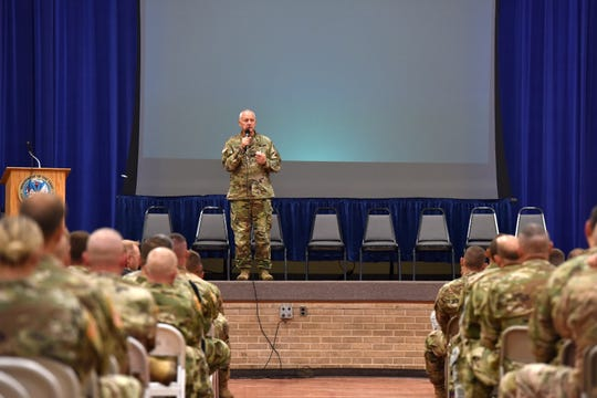 Nearly 400 employees of the Minnesota National Guard attended an event where State Adjutant General, Maj. Gen. Jon Jensen, and other leaders discussed sexual assault prevention Friday, June 21, 2019.