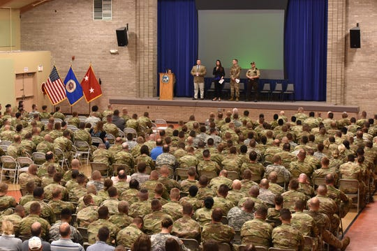 Nearly 400 employees of the Minnesota National Guard attended an event about awareness, response and prevention of sexual assault at Camp Ripley on Friday, June 21, 2019.