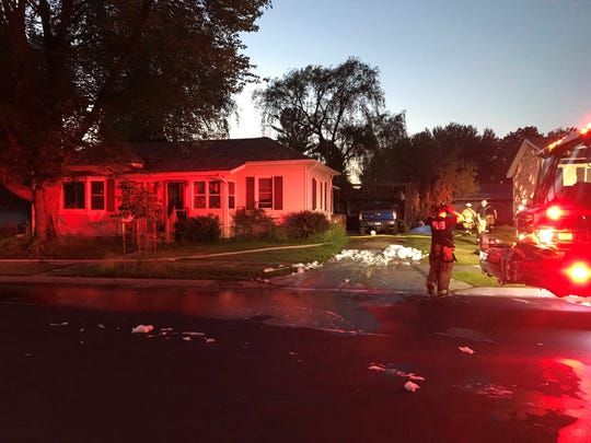 Stevens Point authorities said a body was found inside a detached garage destroyed by fire Wednesday, June 26, 2019 on Sixth Avenue.