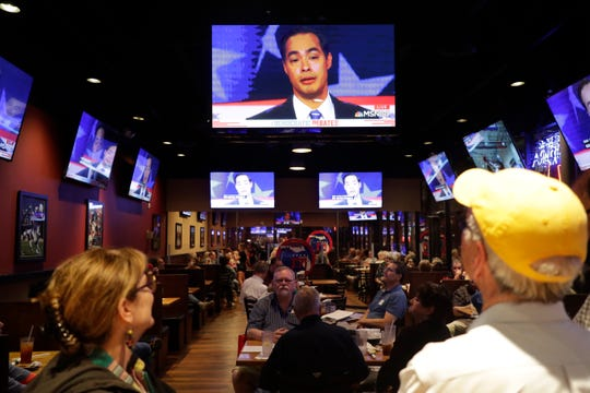 The Democratic Club of North Florida hosted a watch party for the Democratic presidential debate at Beef O' Brady's on Capital Circle Southeast Wednesday, June 26, 2019.