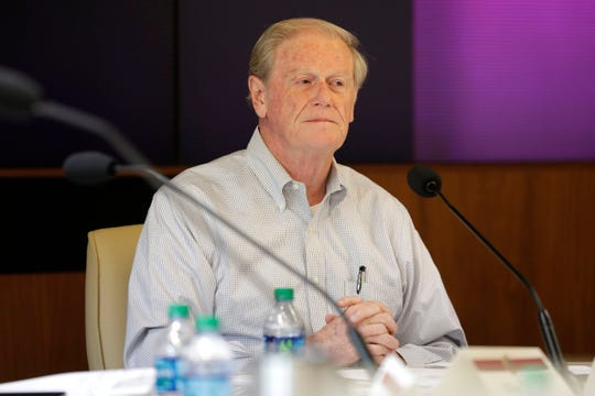 Florida State University President John Thrasher attends a meeting with the Florida State University Athletics Association Thursday, June 27, 2019.