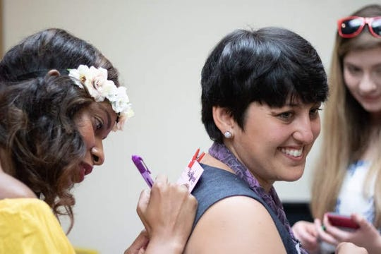 Breakout session activity at last year's SHE Tea. This year's event is Saturday, June 29.
