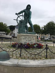 We walked to the Gloucester Fisherman's Memorial where 5,368 fishermen known to have been lost at sea are memorialized by name.
