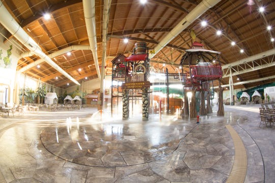 The indoor water park at the Great Wolf Lodge in Concord, NC.