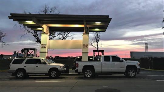 Gas pumps at Costco