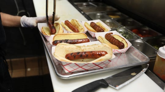 Hot dogs at the Dawg House in Nanuet June 27, 2019.