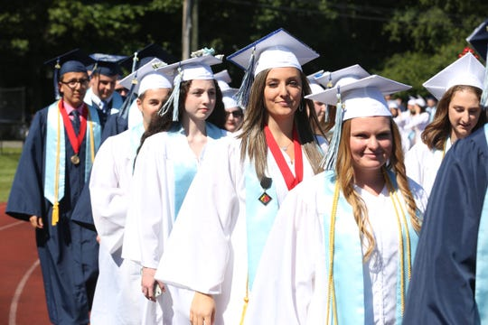 Westlake High School graduation at Westlake High School in Thornwood June 26,  2019.