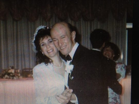 Karen Ganis and her late father, who passed away from Alzheimer's disease in 1999.