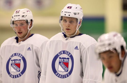 Kaapo Kakko at the New York Rangers prospect development camp June 27, 2019 at Chelsea Piers in Stamford, Conn.