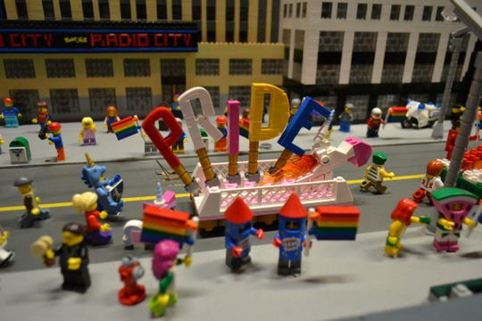 A part of the miniature pride parade.