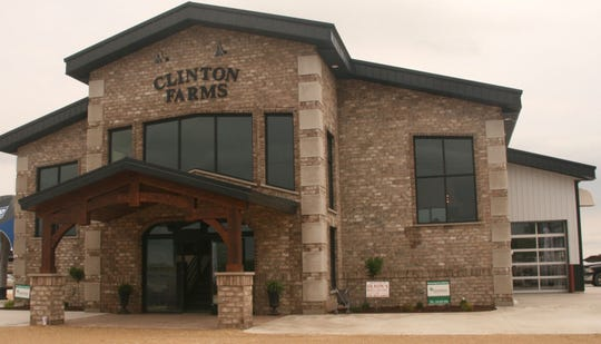 The main entrance to Clinton's new milking center overlooks the parlor and also features space for an office and conference room.