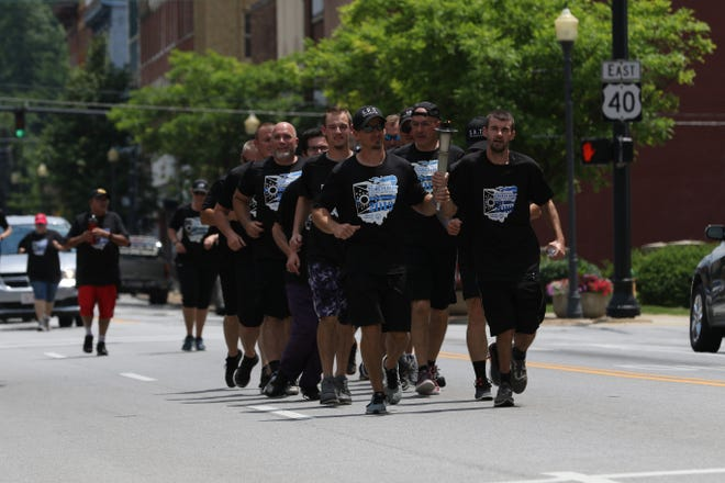 The Special Olympics torch made it way through Zanesville Thursday afternoon, as a kickoff to the competition which begins Friday in Columbus. A team of 11 from Starlight will be competing during the event.