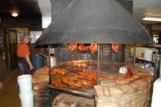 Unlike almost every other legendary Texas barbecue spot, the Salt Lick uses live fire grilling in its signature stone fire pit in addition to slow smoking.