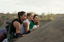 """Ella Balinska, Kristen Stewart and Naomi Scott star in """"Charlie's Angels."""""""