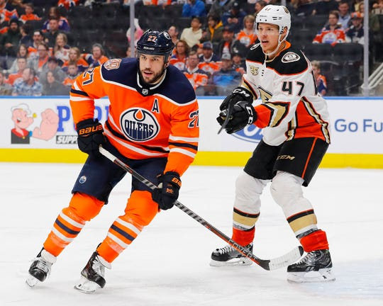 Forward Milan Lucic has scored 16 goals over the past two seasons with the Oilers.