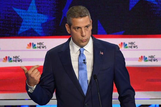 Rep. Tim Ryan, D-Ohio, speaks during the first Democratic primary debate in Miami on June 26, 2019.