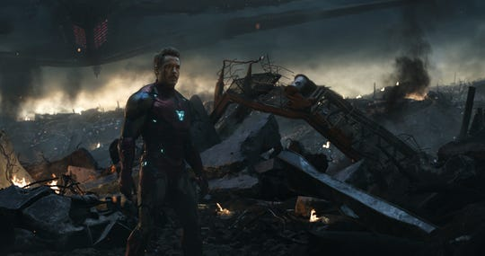 "Tony Stark (Robert Downey Jr.) sacrificed himself on the battlefield in ""Avengers: Endgame,"" though his presence still looms in ""Spider-Man: Far From Home."""