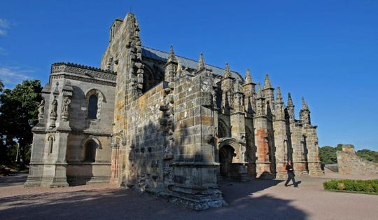 Rosslyn Chapel played a key role in the Da Vinci Code.